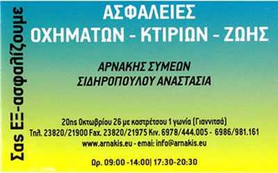 Ασφάλειες Αρνάκης, Γιαννιτσά