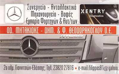 Μητακίδης-Θεοδωράκογλου, Συνεργείο - Ανταλλακτικά, Γιαννιτσά