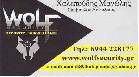 Wolf Security, Υπηρεσίες φύλαξης, Χαλεπούδης Μανώλης