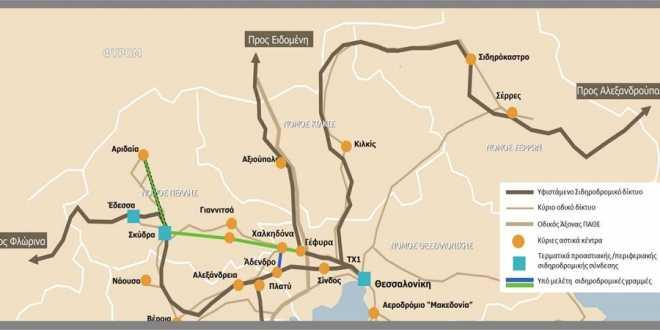 Ώρα αποφάσεων για τη σιδηροδρομική σύνδεση Θεσσαλονίκης-ΠΕ. Πέλλας μέσω Γιαννιτσών