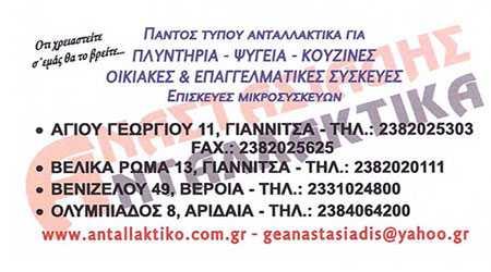 Αναστασιάδης, Ανταλλακτικά Γιαννιτσά