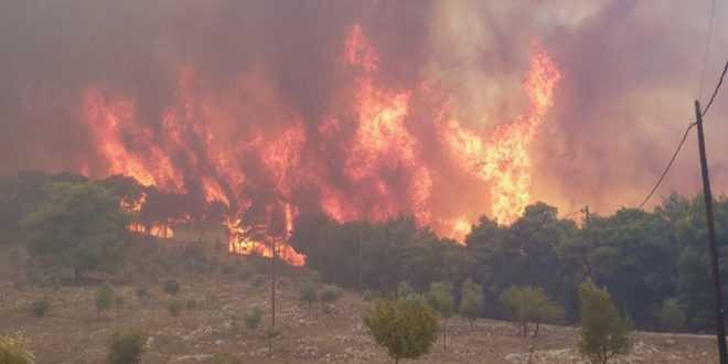 Καίγονται» για 4η μέρα οι Πρόμαχοι Πέλλας – Φόβοι για επέκταση στο ...