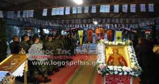 """Πανηγυρικός Εσπερινός της Αγίας Βαρβάρας στο Στρατόπεδο """"Κ. Άγρα"""" στα Γιαννιτσά (foto-video)"""